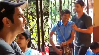 Sushant Singh Rajput's Sister Shweta Singh Kirti Shares Emotional Video of Him Visiting Specially-Abled Students