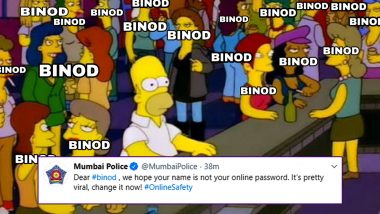 Binod Funny Memes: Mumbai Police Joins the Bandwagon to Spread Online Safety Awareness