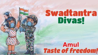 'Swadtantra Divas!' Amul Wishes Happy Independence Day 2020 In A Must-See Topical Ad to Celebrate 15th August Amid the Pandemic (View Pic)