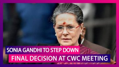 Sonia Gandhi To Resign As Congress President, Final Decision At CWC Meeting On August 24: Reports