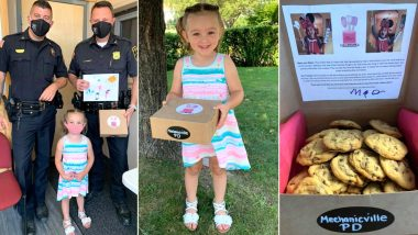 Mia Villa, 3-Year-Old Girl Bakes and Delivers Cookies to Thank COVID-19 Frontline Warriors, Watch Adorable Videos and Pics of the Little Girl From New York