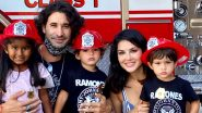 Sunny Leone and Daniel Weber Take Their Kids On an Informative Tour to the Fire Station As They Learn Fire Safety Lessons (View Pic)