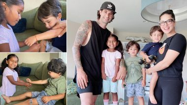 Raksha Bandhan 2020: Sunny Leone's Daughter Nisha Kaur Weber Celebrates Rakhi Festival With Brothers Asher and Noah (View Cute Pics)