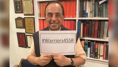 Sushant Singh Rajput Case: Subramian Swamy Joins #Warriors4SSR Digital Protest (View Pic)