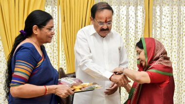 Raksha Bandhan 2020: Vice President M Venkaiah Naidu Misses Sushma Swaraj on Rakhi, Shares Beautiful Picture