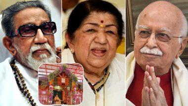 Ram Mandir Bhumi Pujan: Lata Mangeshkar Remembers the Contribution of Late Balasaheb Thackeray and BJP's LK Advani in Rebuilding of Ram Temple in Ayodhya