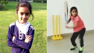 MS Dhoni's 7-Year-Old Fan Pari Sharma Emulates CSK Skipper's Helicopter Shot, Impresses Sanjay Manjrekar and Aakash Chopra (Watch Video)