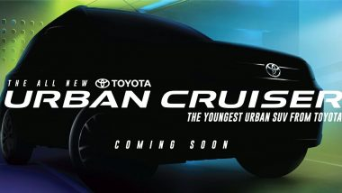 Maruti Suzuki Vitara Brezza Based Toyota's Urban Cruiser Sub-Compact SUV Nameplate Officially Announced
