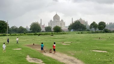 Taj Mahal Is Closed, Cricket Is On! Kids Play at World's Best Gully Cricket Location, Mehtab Bagh, Agra! (View Pics and Video)