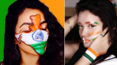 Independence Day 2020 Special Makeup Ideas: From Tricolour Eyeshadow to Indian Flag Face Makeup, Ways to Look Chic On August 15