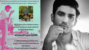 RIP Sushant Singh Rajput: Shweta Singh Kirti Organises a Global Prayer Meet on Independence Day 2020 for Late Actor