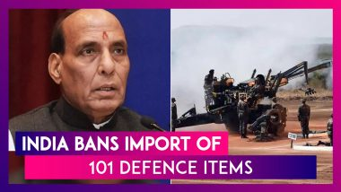 Rajnath Singh Announces Ban On 101 Import Defence Items In Push For Make In India, Atmanirbhar India