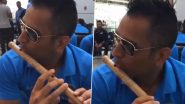 CSK Share Unseen Video of MS Dhoni Playing The Flute to Wish Fans on Krishna Janmashtami 2020 (View Post)
