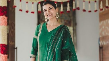 Samantha Akkineni Stuns in a Green Churidar Look!