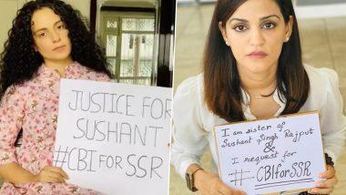 Sushant Singh Rajput Case: Kangana Ranaut Thanks Shweta Singh Kirti for Squashing All the Rumours Against Her (Read Tweet)