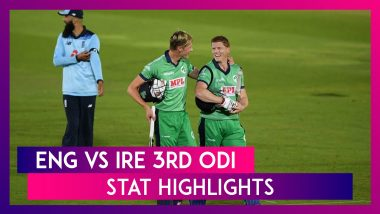 ENG vs IRE 3rd ODI Stat Highlights: Paul Stirling, Andrew Balbirnie Star In Record Win
