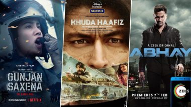 OTT Releases Of The Week: Janhvi Kapoor's Gunjan Saxena, Vidyut Jammwal's Khuda Haafiz, Kunal Kemmu's Abhay 2 and More Independence Week Releases