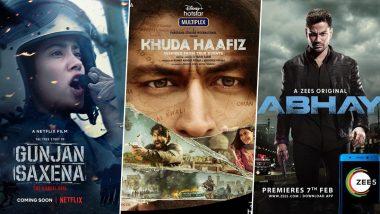 OTT Releases Of The Week: Janhvi Kapoor's Gunjan Saxena, Vidyut Jammwal's Khuda Haafiz, Kunal Kemmu's Abhay 2 and More Independence Week Releases