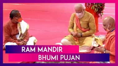 Ram Mandir Bhoomi Pujan: PM Modi Says, 'Lord Ram Lived Under Tent For Years, Now A Grand Temple'