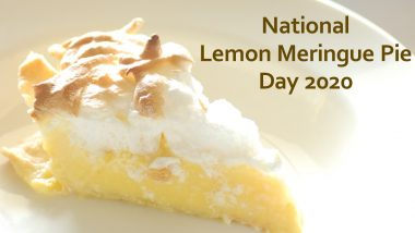 National Lemon Meringue Pie Day 2020: Try This Simple Homemade Recipe to Make Yummy Dessert With Lemon Custard Filling and a Fluffy Meringue Topping (Watch Video)