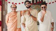 Rana Daggubati and Miheeka Bajaj Wedding: Bridegroom Poses with Father Suresh Babu and Uncle Venkatesh Daggubati Ahead Of the Royal Ceremony!