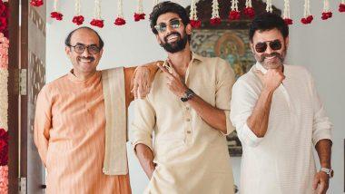 Rana Daggubati and Miheeka Bajaj Wedding: Bridegroom Poses with Father Suresh Babu and Uncle Venkatesh Daggubati Ahead Of the Royal Ceremony!