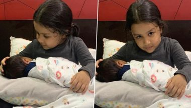 'MS Dhoni Becomes Dad Again?' Speculate Confused Netizens After Wife Sakshi Shared Photos of Daughter Ziva Holding a Newborn Baby!