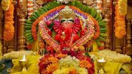 Siddhivinayak Ganapati Idol Live Darshan & Streaming Online for Ganesh Chaturthi 2021 Day 8: Watch Live Streaming of the Ganeshotsav Celebrations and Aarti From Mumbai