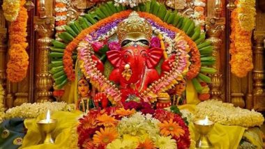 Siddhivinayak Ganapati Idol Live Darshan & Streaming Online for Ganesh Chaturthi 2021 Day 6: Watch Live Streaming of the Ganeshotsav Celebrations and Aarti From Mumbai