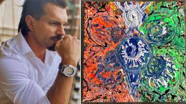On Independence Day 2020, Karan Singh Grover Shares His Majestic Painting of Indian Tricolor with a Message of Unity (View Post)