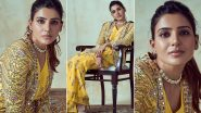 Samantha Akkineni Dazzles In a Yellow Ethnic Wear (View Pics)