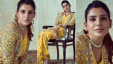Samantha Akkineni Dazzles In a Yellow Ethnic Wear (View Pics)