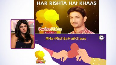 Pavitra Rishta Fund Drops Sushant Singh Rajput's Photo From Poster; Ekta Kapoor Dissociates Herself From the Cause and Releases Statement (View Post)