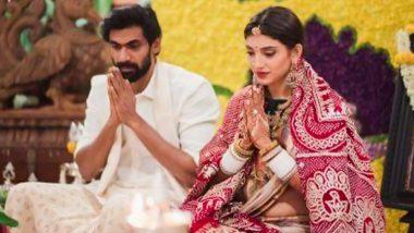 Rana Daggubati and Miheeka Bajaj Look Radiant As They Perform Satyanarayan Puja Post Wedding (View Pic)