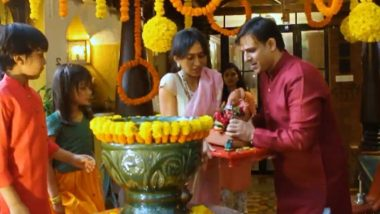 Ganesh Chaturthi 2020: Vivek Oberoi and Family Bid Adieu to Bappa (Watch Video)