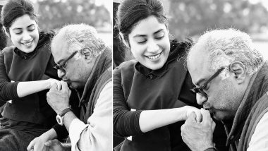 Janhvi Kapoor Pens Heartfelt Note for Father Boney Kapoor, Says She and Gunjan Saxena 'Have the Best Fathers in the Whole World'