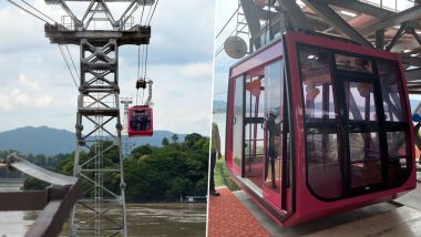 India's Longest River Ropeway Service of 1.82 Km Launched, Connects Guwahati With North Guwahati Over Brahmaputra River in Assam
