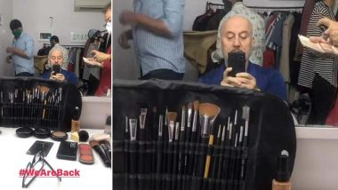 Anupam Kher Resumes Shoot in the Times of COVID-19; Actor Shares Video from the Sets