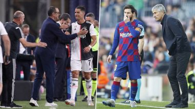 Lionel Messi vs Quique Setien, Cristiano Ronaldo vs Maurizio Sarri and Other Occasions When Managers Were Let Go After Bust-Up With Players