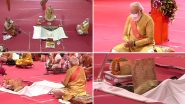 Ram Mandir Bhumi Pujan: PM Narendra Modi Lays Foundation Stone at Ram Janmabhoomi For Construction of Ram Temple in Ayodhya