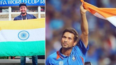 Independence Day 2020: Rohit Sharma, Sachin Tendulkar and Other Indian Cricketers With Proudly Posing With National Flag of India (Views Pics and Videos)