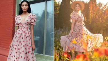 Lirika Matoshi's 'Strawberry Dress' Is the Latest Instagram Fashion, Here's How the Refreshing Look Became Internet's Romantic Escape From Quarantine Sweatpants (View Pics)