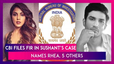 CBI Files FIR Over Sushant's Death, Names Rhea Chakraborty,  5 Others, Actress Claims Probe Illegal