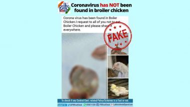 Coronavirus Found in Broiler Chicken? PIB Fact Check Debunks Fake News