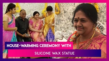 Silicone Wax Statue of Industrialist Shrinivas Gupta's Late Wife Installed at His New Home in Koppal