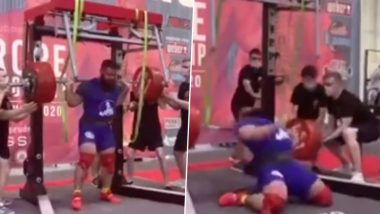Russian Powerlifter Alexander Sedykh Fractures Both Knees After Attempt at 400kg Squat Goes Wrong (Watch Video)