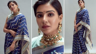 Rana Daggubati and Miheeka Bajaj Wedding: Samantha Akkineni's Look Is Bright, Blue and Beautiful! (View Pics)