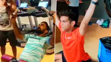 KKR Can't Wait For IPL 2020 to Begin, Share Video of Skipper Dinesh Karthik and Other Players Working Out in Gym (See Post)