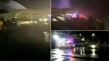 Air India Express Flight IX-1344 Overshoots Runway at Calicut Airport; Watch Devastating Videos