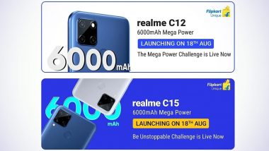 Realme C12 & Realme C15 Smartphones to Be Launched in India on August 18; Expected Prices, Features, Variants & Specifications